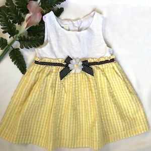 Samara Baby Girls Eyelet Seersucker Dress  24M